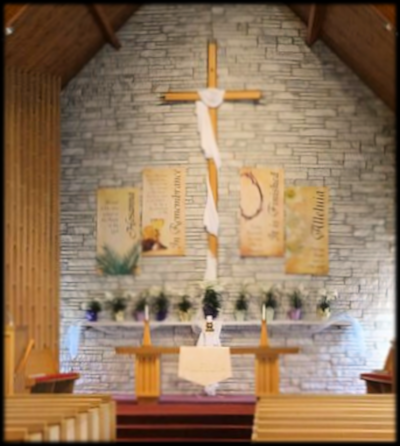 Chancel, 1st Presbyterain Church - LeRoy MN